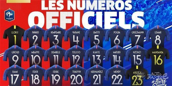 法国球衣号码公布